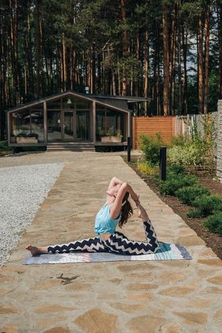 Коврик для йоги Moderno 183*61*0,3см из микрофибры и каучука