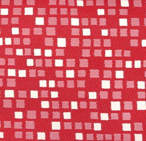 Портьерная ткань двухсторонний жаккард Домино красный