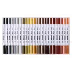 Mazari Artist набор маркеров для скетчинга 120 шт двусторонние акварельные пуля/кисть 0.4-3.5 мм4-3.5 мм
