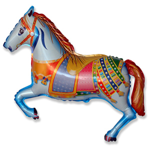 Фольгированный шар Лошадь цирковая 72 Х 45 см