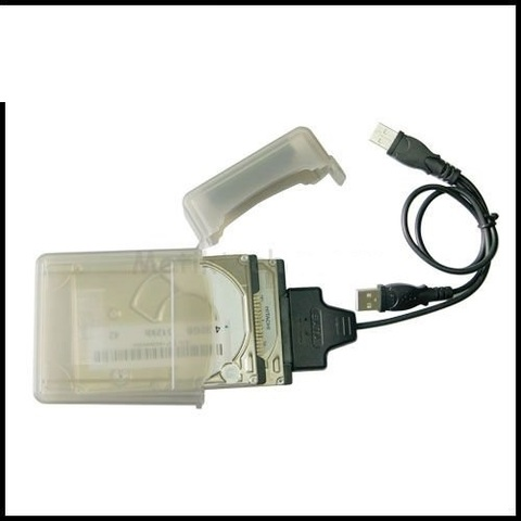 Контроллер переходник  для жесткого диска sata SATA 15 + 7 в USB 2.0 +коробка + Питание USB Кабелем Адаптер для 2.5 дюймов HDD SSD