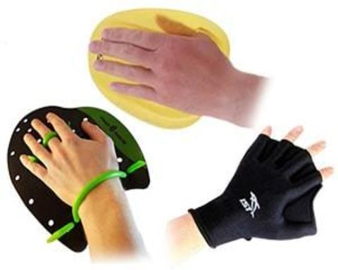 Купить лопатки, перчатки для плавания, акваперчатки для аквааэробики