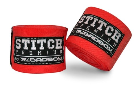 Бинты Bad Boy Stitch Premium Hand Wraps - Red 5m