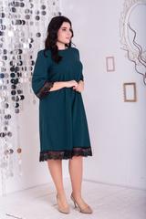 Лолита.  Нарядное платье с кружевом. Изумруд