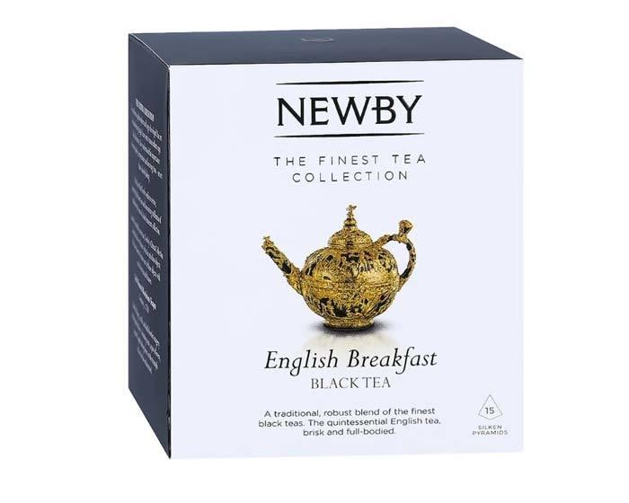 Чай черный в пирамидках Newby English breakfast, 15 пак/уп