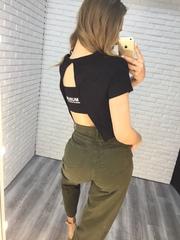 джинсы цвета хаки женские недорого