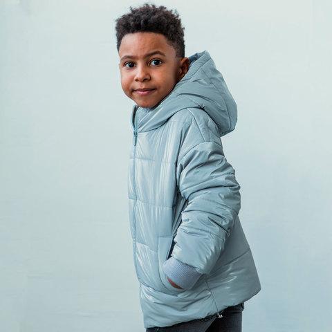 Демисезонная детская подростковая куртка в светло сером цвете для мальчика