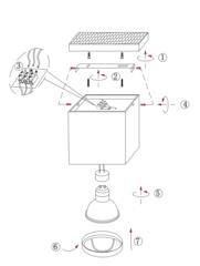 Накладной точечный светильник INL-7016D-01 Black