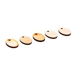 Заготовка деревянная для брелка (бирки), набор 5 шт.