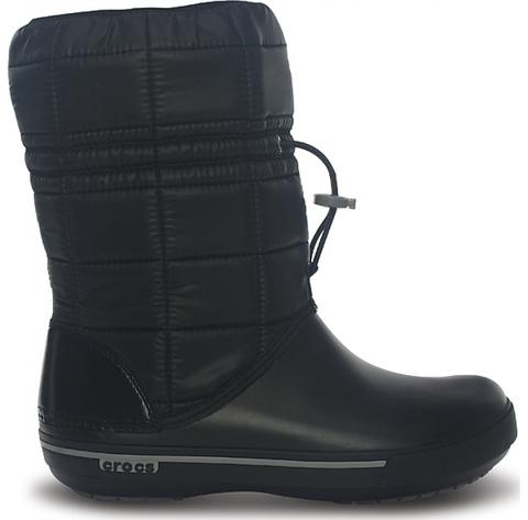 Женские зимние дутики Crocs Women's Crocband™ II.5 Boot Black/Smoke