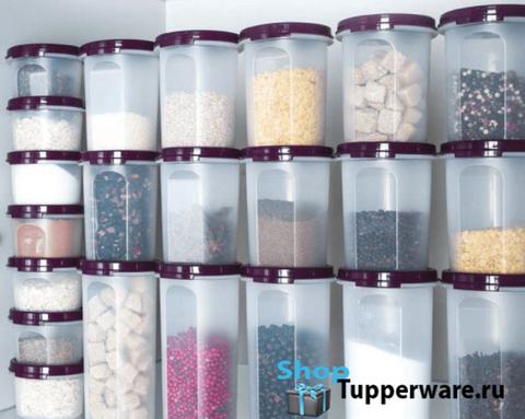 компактное хранение с круглыми компактусами tupperware