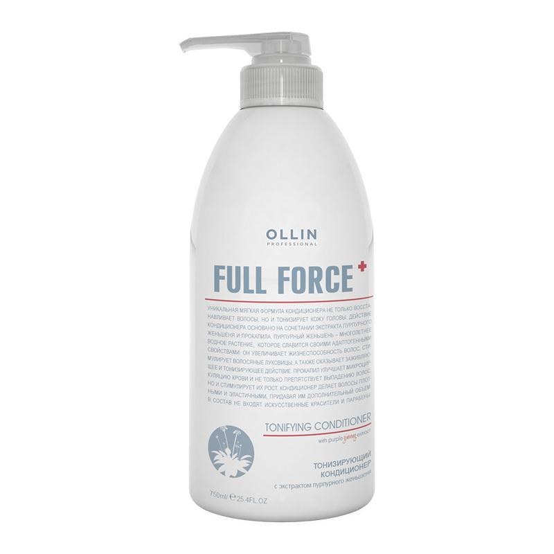 OLLIN PROFESSIONAL FULL FORCE Тонизирующий кондиционер с экстрактом пурпурного женьшеня 750 мл