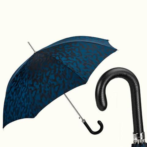 синий зонт-трость для мужчин камуфляж брутальный