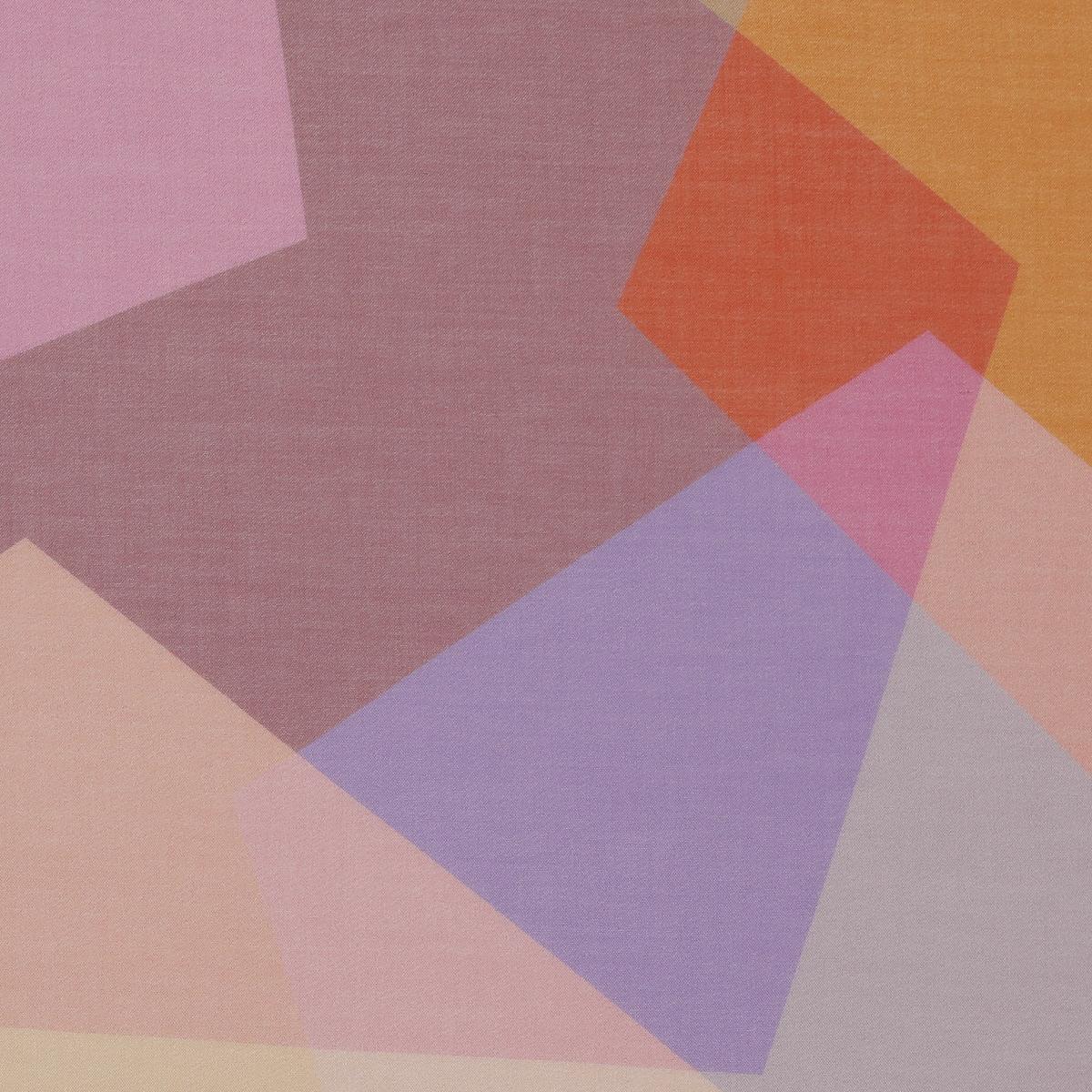 Хлопковый батист в рисунок из шестигранников гармоничных оттенков