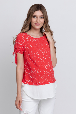 Блузка для беременных 12590 горох
