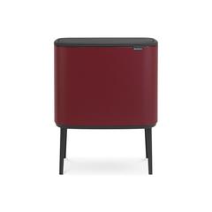 Мусорный бак Touch Bin Bo (11 л + 23 л), Минерально-бордовый