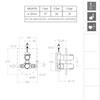 Встраиваемый термостатический смеситель для душа TZAR 342411S на 1 выход - фото №2