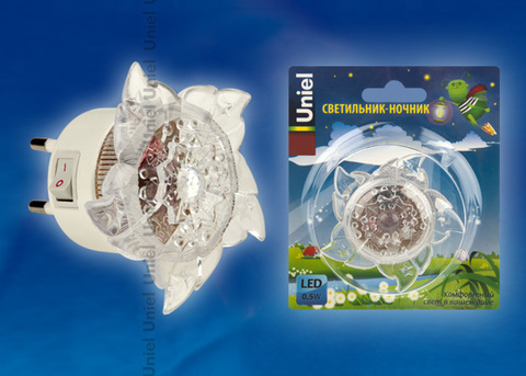 DTL-308-Цветок/RGB/4LED/0,5W Светильник-ночник. Выключатель на корпусе. Блистер