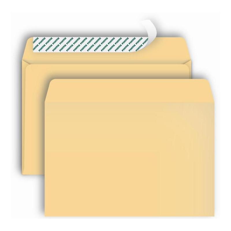 Конверт Postfix Bong C4 90 г/кв.м крафт-бумага стрип с внутренней запечаткой (250 штук в упаковке)