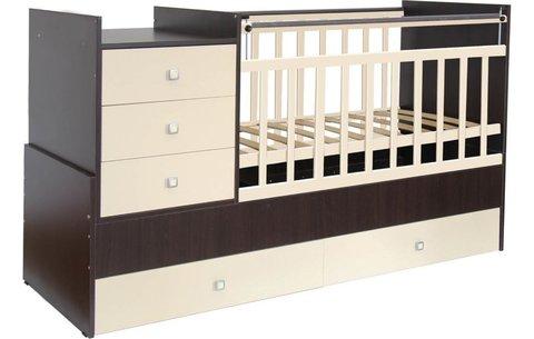 Кровать детская Фея 1000 венге-бежевый