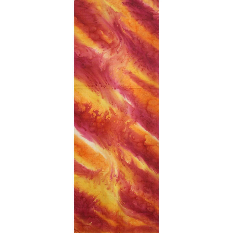 Палантин батик Красно-оранжевый соль С-76-ш