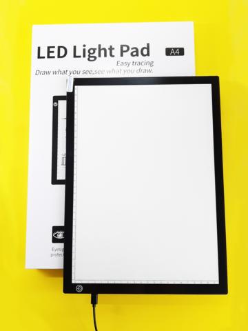 Светодиодный планшет А4 для рисования, копирования / графический / световой / ЧЕРНЫЙ
