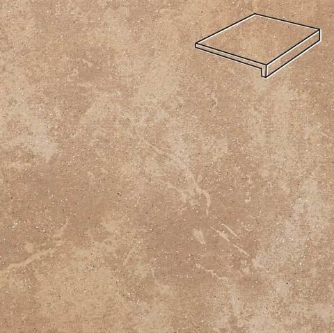 Stroeher - Keraplatte Roccia 835 sandos 294x175x52x10 артикул 4817 - Клинкерная ступень, прямой угол