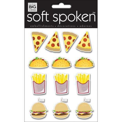 Стикеры обьемные - Soft Spoken Themed -Fast Food