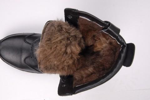 Берцы Зимние Бизон Натуральный Мех
