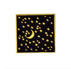 Пин «Звёзды и Луна» (квадрат)