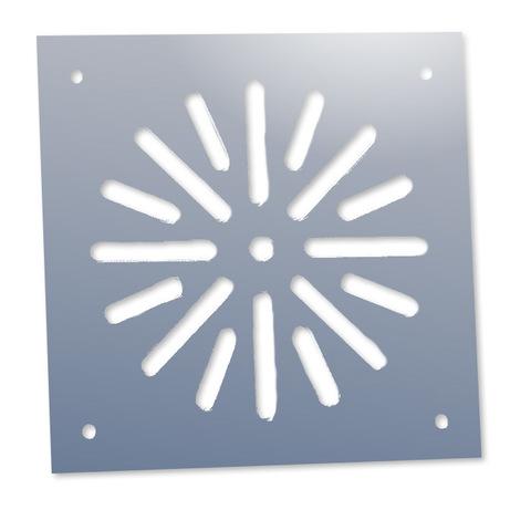 Решётка напольная 150х150 (вариант 2) из нержавеющей стали