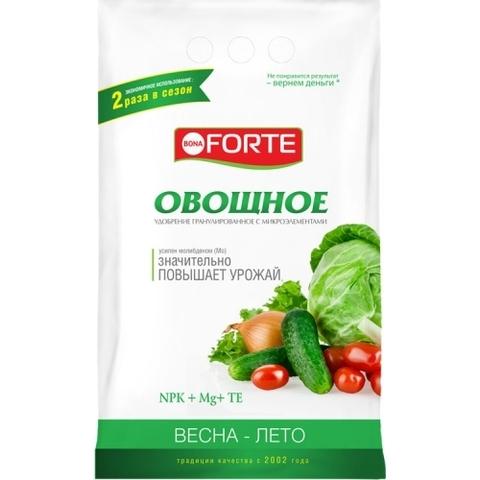 Bona Forte удобрение комплексное гранулированное с микроэлементами Овощное 1кг