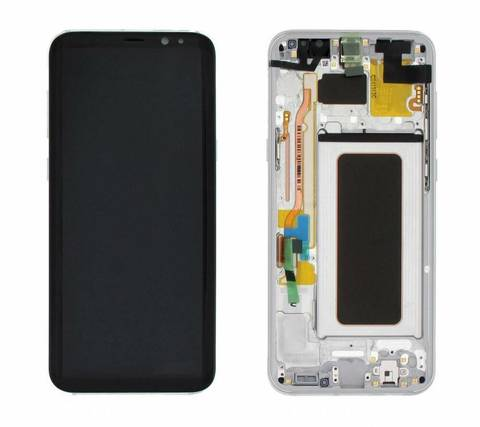 LCD SAMSUNG Galaxy S8 Plus G955F + Touch + Frame White Orig