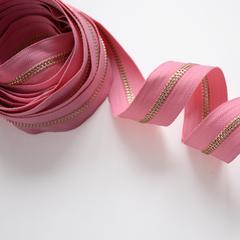 Молния металлическая №5, Нежно-розовый, цена за 10 см.