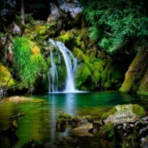 Алмазная Мозаика 30x40 Тихий водопад (арт. GB70445 )