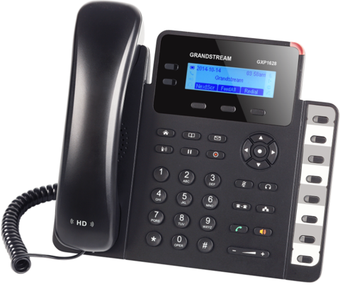Grandstream GXP1628 - IP телефон. 2 SIP аккаунта, 2 линии, есть подсветка экрана, PoE, (1GbE)Gigabit Ethernet, 8 BLF