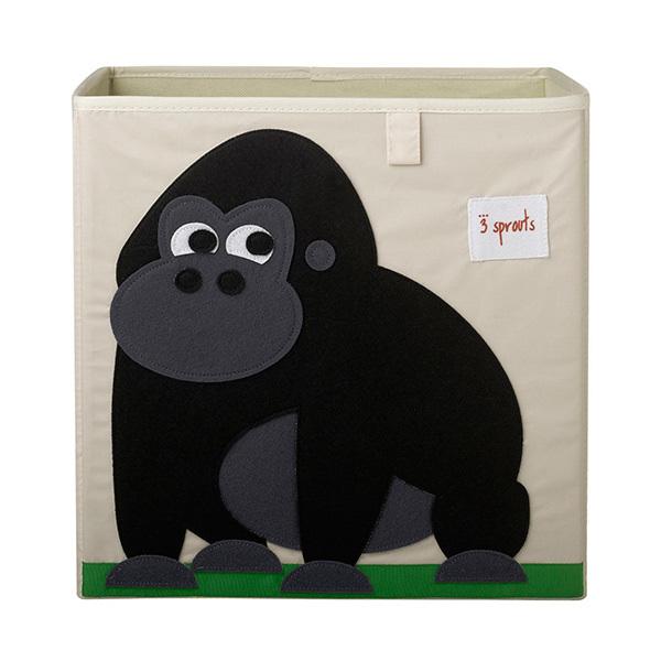Коробка для хранения 3 Sprouts Горилла (чёрный)