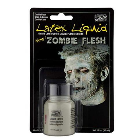 MEHRON Жидкий латекс Makeup Liquid Latex Zombie Flesh (Плоть Зомби),  30 мл