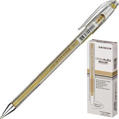 Ручка гелевая одноразовая Crown золотистая (толщина линии 0.7 мм)
