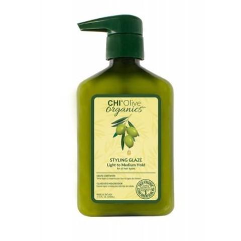 CHI Olive Organics: Гель стайлинг для волос средней фиксации (Styling Glaze Light to Medium Hold for all Hair Types), 340мл