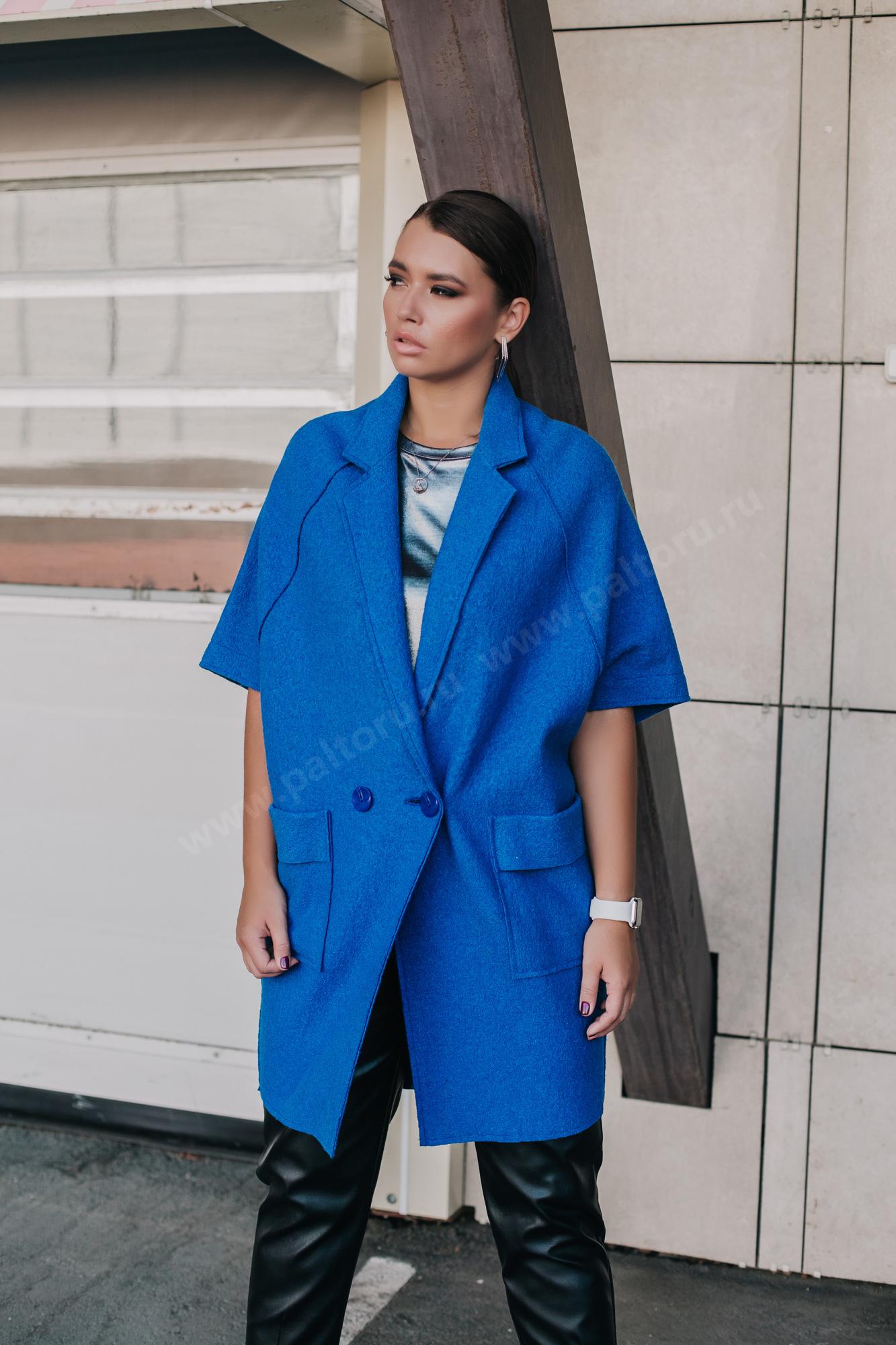 Пальто женское из вареной шерсти