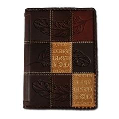 Ежедневник кожаный в стиле 19 века модель 37