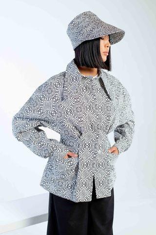 Куртка приталенная (принт 49-09) Adili