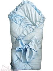 Папитто. Конверт-одеяло с завязкой, 100х100 см. голубой вид 1