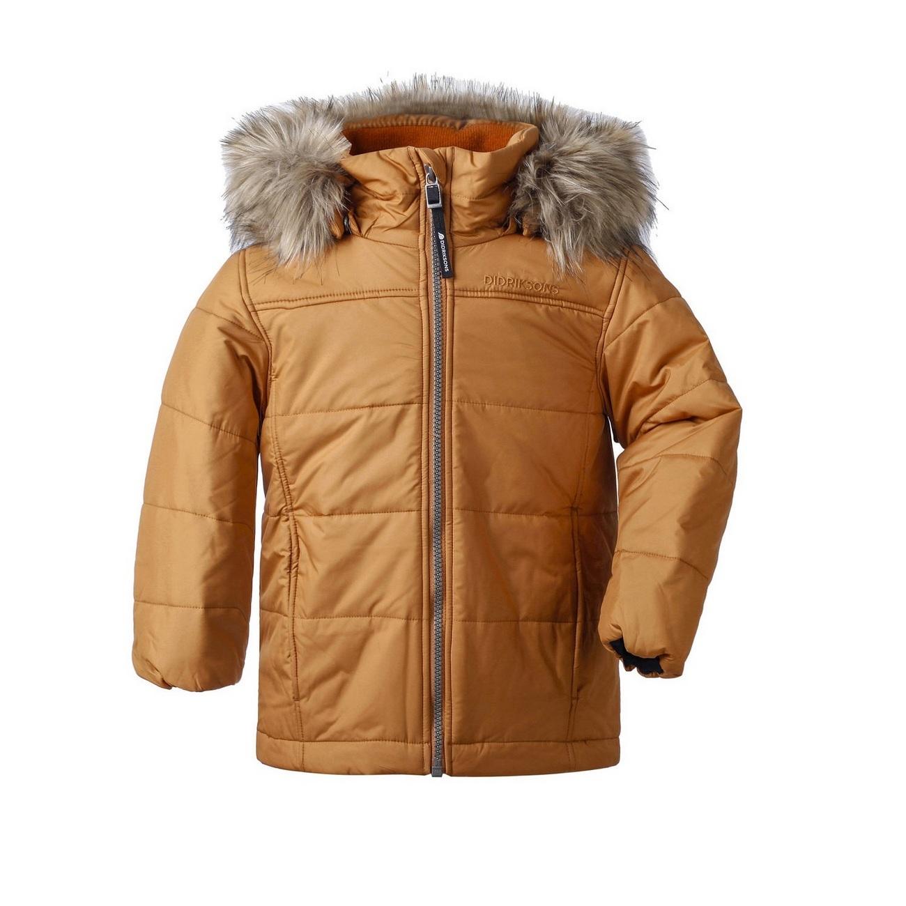 куртка Didriksons Malmgren Leather brown (охра)
