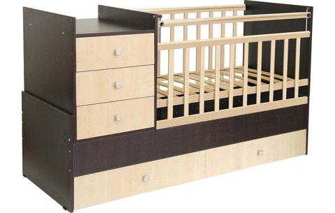 Кровать детская Фея 1000 венге-клён