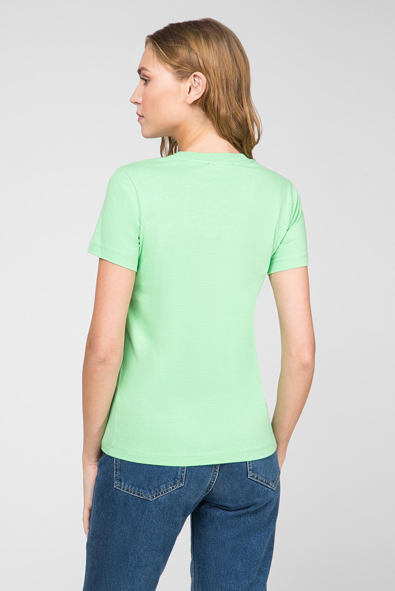 Женская зеленая футболка T-SILY-WX Diesel