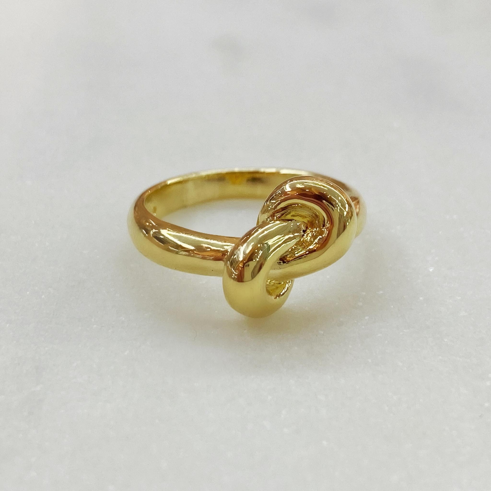 Кольцо с узлом (золотистый)