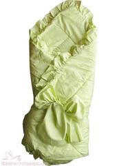 Папитто. Конверт-одеяло с завязкой, 100х100 см. салатовый вид 2
