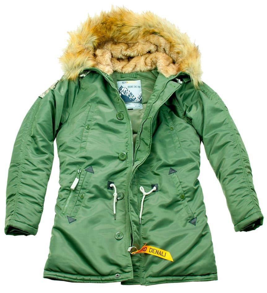 Куртка Аляска Женская - Denali Husky Wmn 2019 (зеленая - green/green)